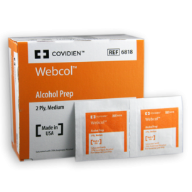 Alcohol Prep Pads - Webcol®