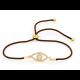 Sparkling Eye Cord Bracelet