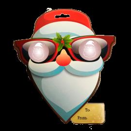 EyePop 3D Holiday Gift Tags - Santa