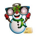 EyePop 3D Holiday Gift Tags - Snowman