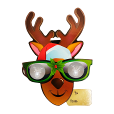 EyePop 3D Holiday Gift Tags - Reindeer
