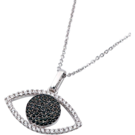 Black Stone Eye Necklace