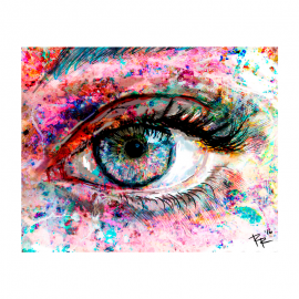 Spark Eye Art - Light - Print