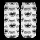 Women's Socks - White with Winking Eyes