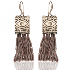 Eye Design Tassel Earrings