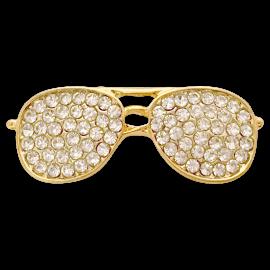 Aviator Sunglasses with Rhinestones Fashion Pin