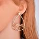 Eye & Lashes Statement Earrings