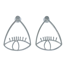 Eye & Lashes Statement Earrings