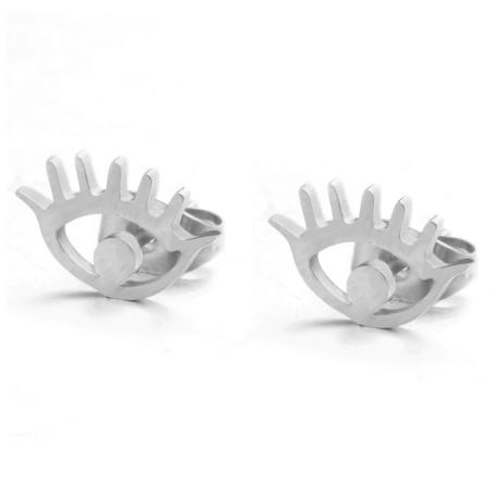 Eye & Lashes Stud Earrings