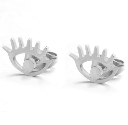 94adc557e Eye & Lashes Stud Earrings