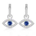 Blue Eye Drop Earrings