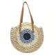 Round Eye Straw Bag