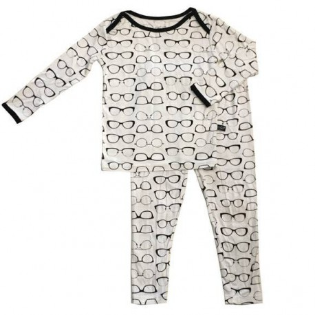 Black & White Two-Piece Pajama Set