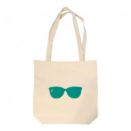 Tote Bag with Green Glasses