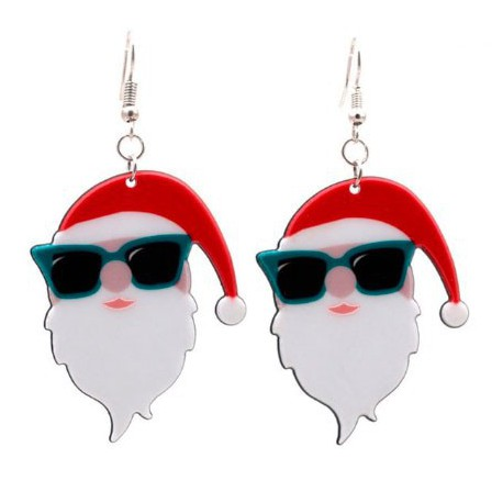 Santa with Sunglasses Earrings