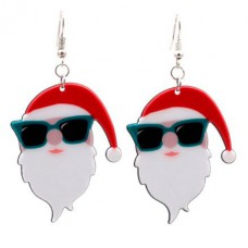 Santa with Sunglasses Earrings