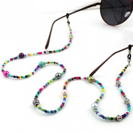 Multi-Color Beaded Eyeglasses Chain