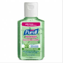 Purell® Instant Hand Sanitizer with Aloe - 2 oz Flip-Cap Bottle