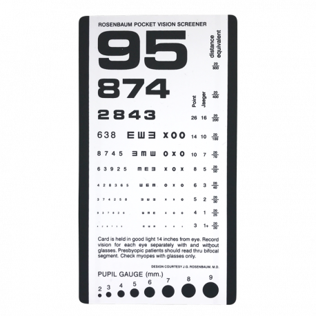 Rosenbaum Pocket Vision Screener