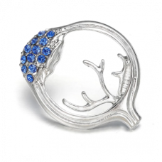 Anatomical Eye Pin with Blue Stones