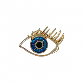 Blue Eye with Lashes Lapel Pin