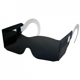 Post-Mydriatic Glasses with Temples