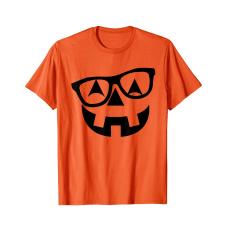 Pumpkin with Glasses Women's Tee