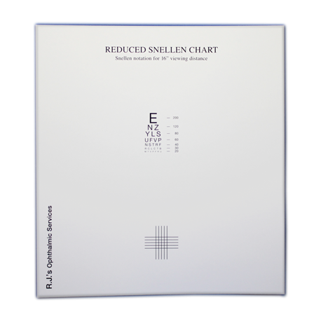 Reduced Snellen Eye Chart
