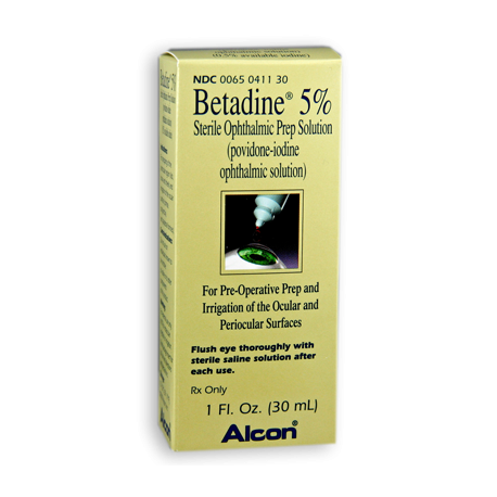 Betadine 5% Sterile Ophthalmic Prep Solution