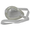 SoloShield™ Clear, Polycarbonate, Vented Eye Shield w/ Foam & Strap