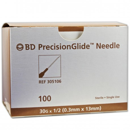 Needles - PrecisionGlide™ 30G x 1/2""