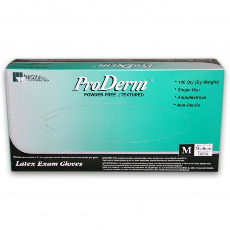ProDerm™️ Latex, Powder-Free Exam Gloves