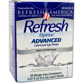 Refresh Optive® Advanced Preservative-Free - Exp. 10/18