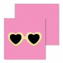 Gift Enclosure Card - Heart Glasses