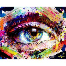 Spark Eye Art - Dark - Print