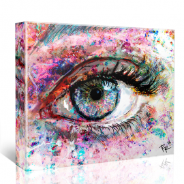 Spark eye art print or canvas - Add spark wall art picture lights ...