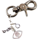 Keychain with Glasses, Swarovski Crystal Bead, & Eye
