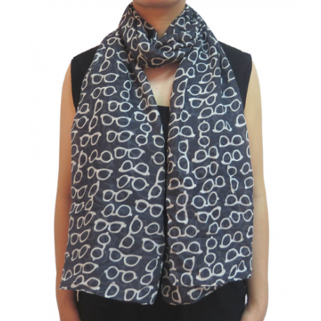 Glasses Print Lightweight Fashion Scarf