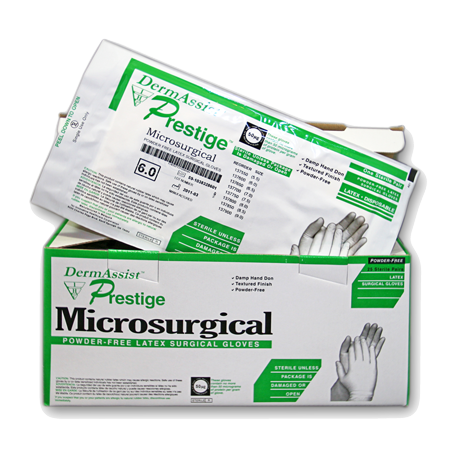 DermAssist™ Prestige® Latex, Powder-Free Microsurgical Gloves - CLEARANCE!
