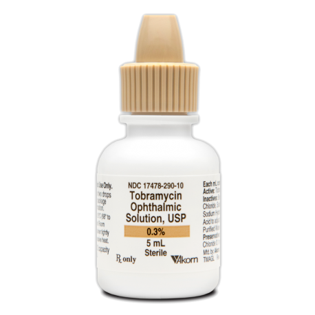 Tobramycin 0.3% Solution - Akorn - Exp. 6/20