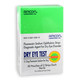 Dry Eye Test Strips 0.12 mg - Exp. 8/18