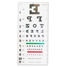 Reversed Snellen 20' Eye Chart