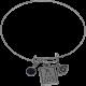 Bracelet with Black Swarovski Crystal Bead, Eye Chart & Eye with Diamond Pupil