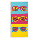 Microfiber Beach Towel - Bright Sunglasses