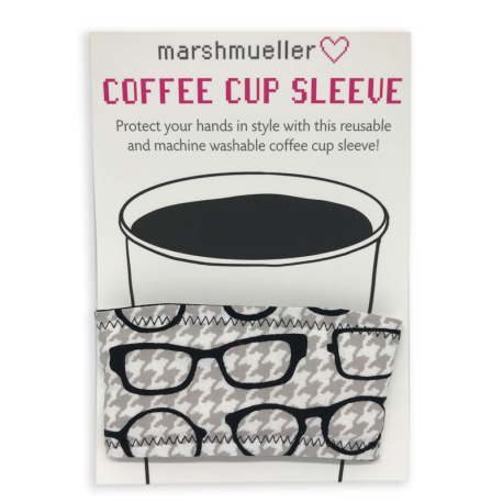 Coffee Cup Sleeve - Black & White