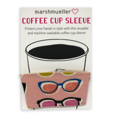 Coffee Cup Sleeve - Pink Poolside