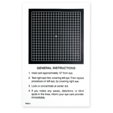 Amsler Grid Give-Away Sheets - Black Squares