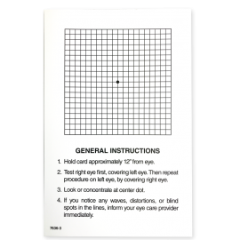 Amsler Grid Give-Away Sheets - White Squares