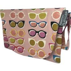 Diaper + Wipe Clutch - Poolside Pink