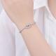 Sterling Silver Bracelet - Adjustable with Eye